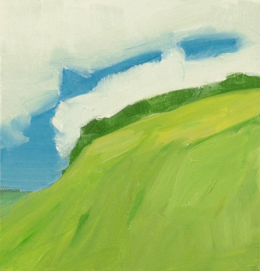 "Landscape VT 5 1/8"" x 5"" oil on panel 2016"