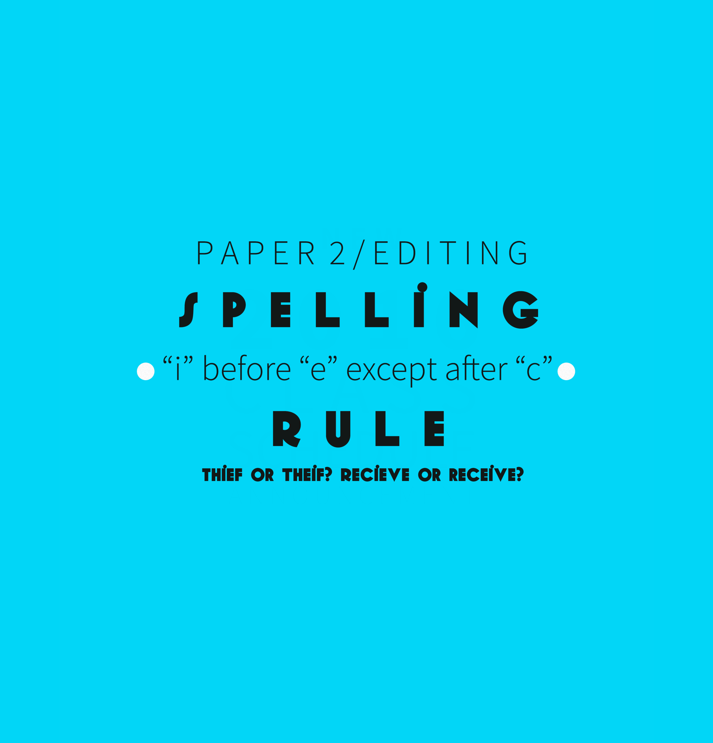"""Spelling Rule """"i"""" before """"e"""" except after """"c"""" Thumbnail"""