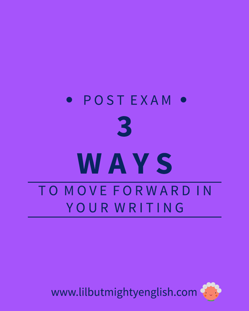 3 Ways To Move Forward with Your Writing