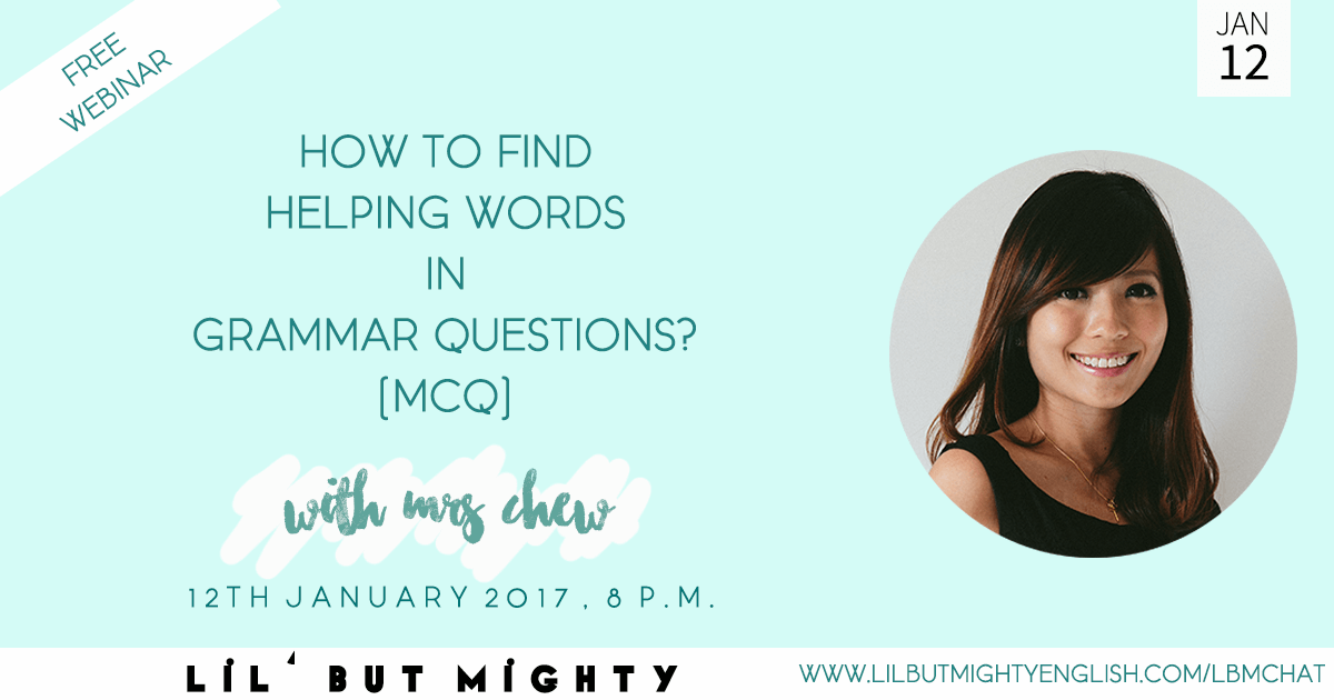 How to Find Helping Words in Grammar Questions (Subject-Verb Agreement)