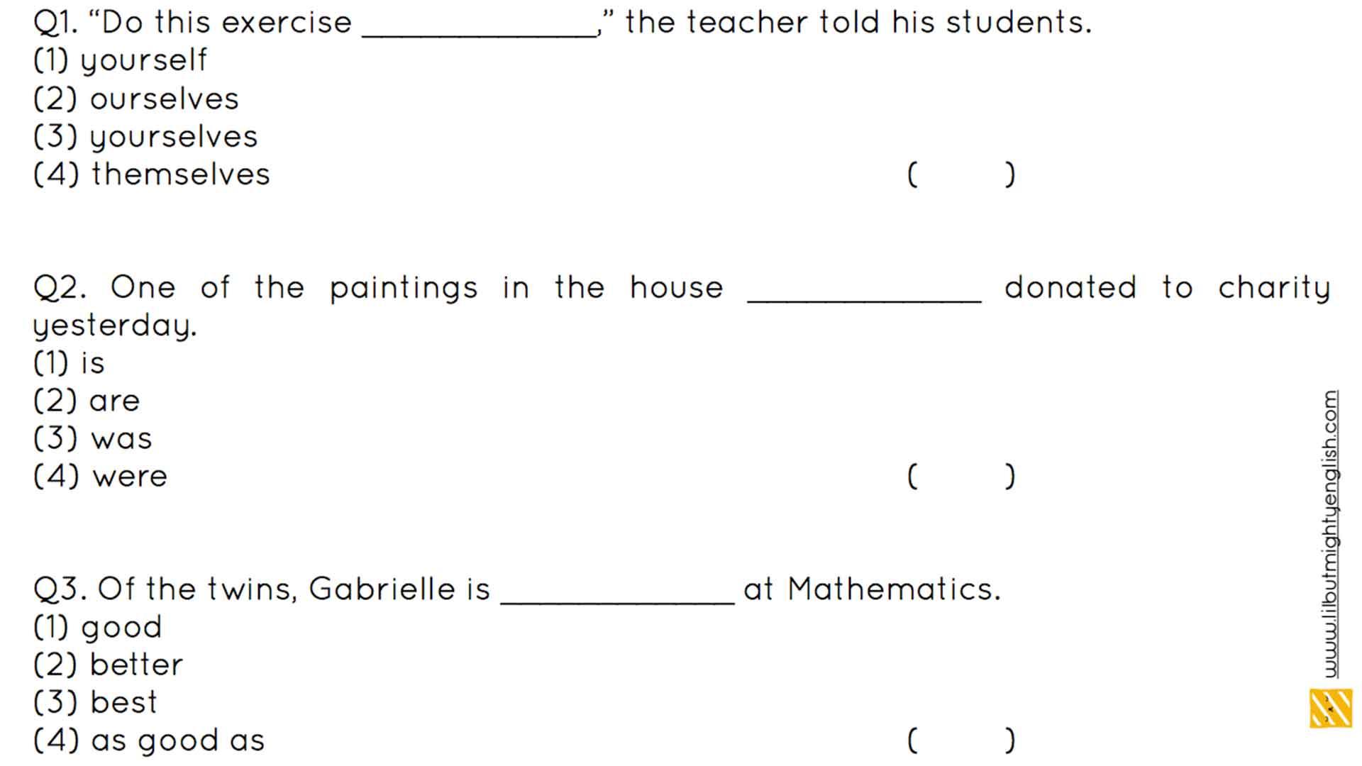 Primary School Grammar | P3/P4 Quiz