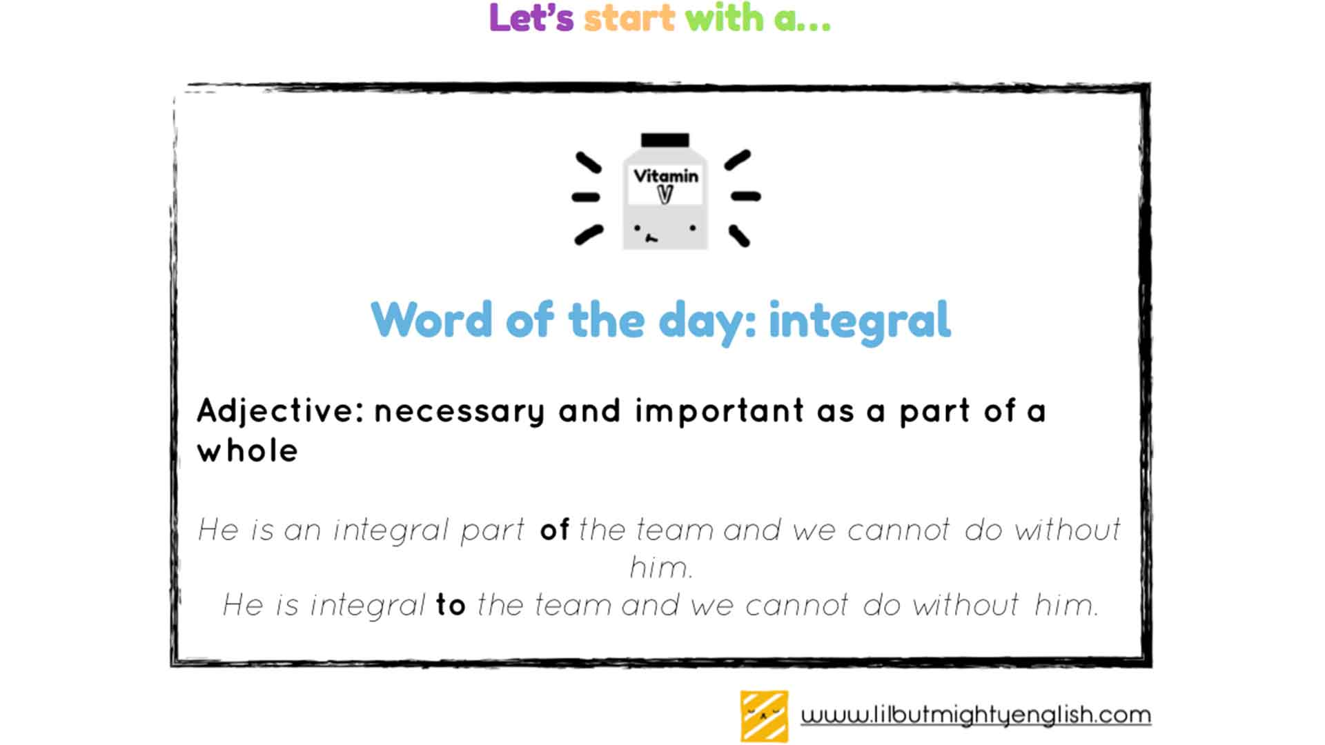 Word of the day: Integral