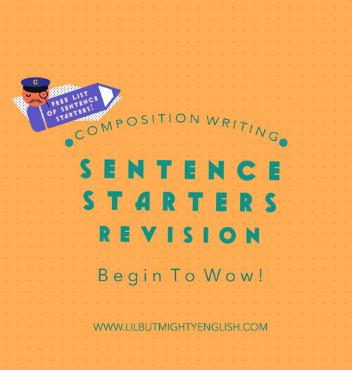 Primary Composition Writing | Starting sentences with introductory clauses