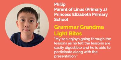 Grammar Grandma Light Bites Testimonial