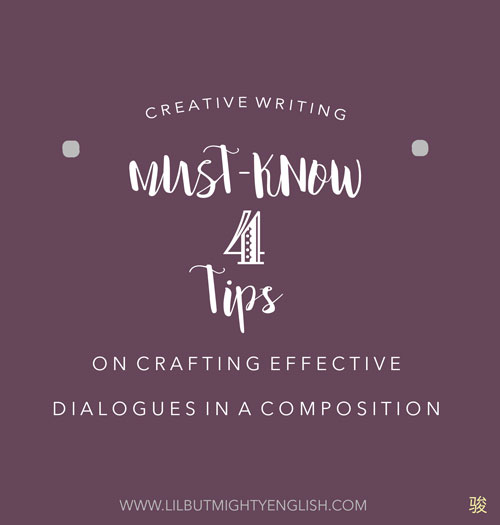 4 tips on crafting effective dialogues in a composition
