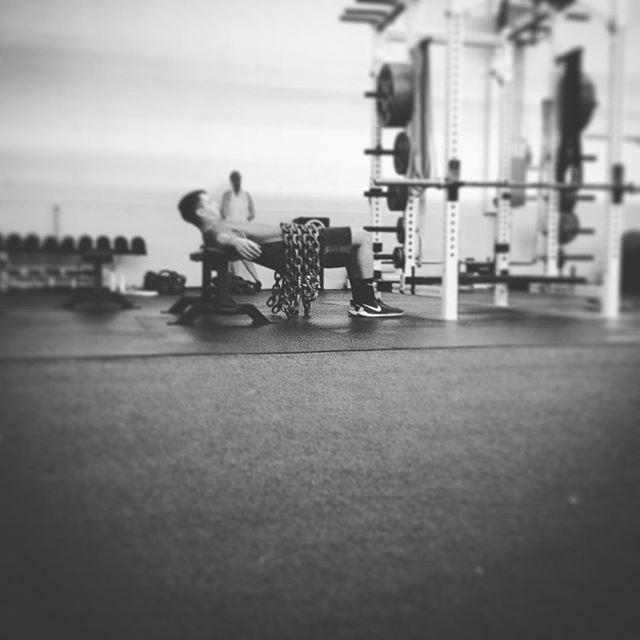 I think he needs more chains... #saptstrength #gluteworkout #strongbuttstrongathlete #lacrosse #laxtraining