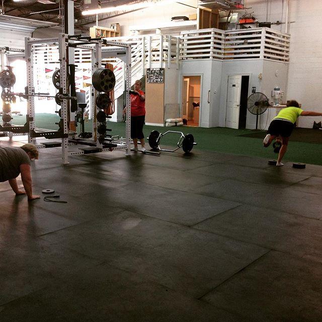 Kids are back workin' the brain, moms are back to train. #saptstrength #ladieswholift #momlife #strongmoms