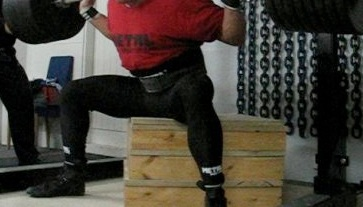 """The classic box squat. Easy on the knees, great way to load the hips. Might this be too much of a """"good thing"""" over many years with little variety?"""