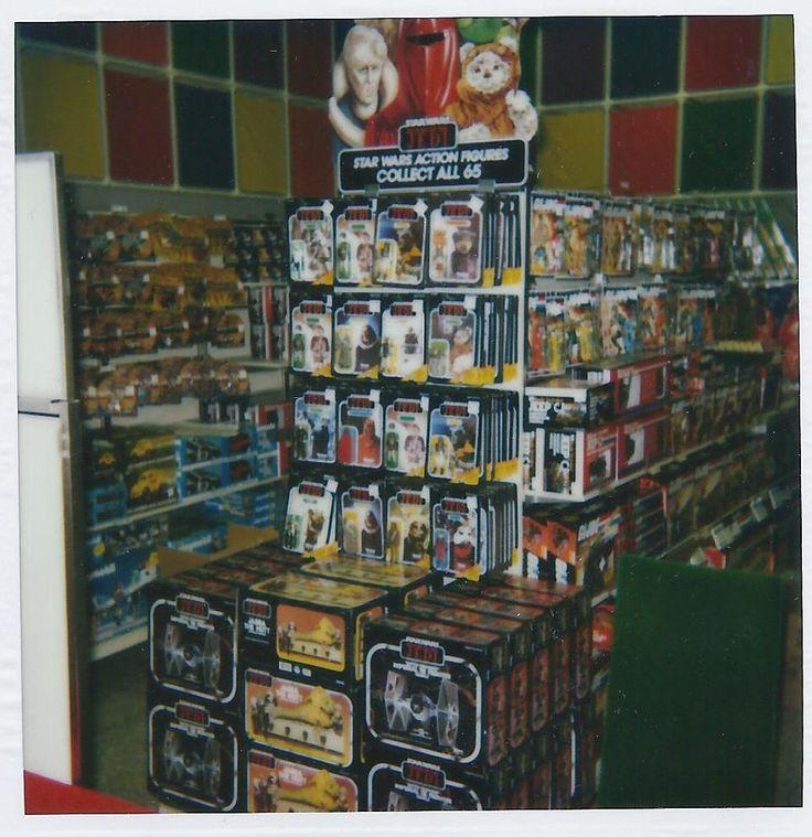 1983 Return of the Jedi toy display