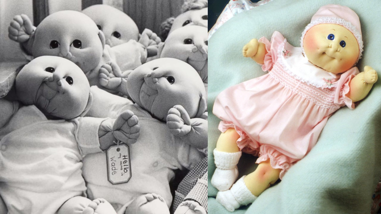 Martha Nelson Thomas' Doll Babies (Left) and early Xavier Roberts design (Right)