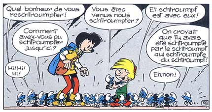 Original Smurfs in    Johan and Peewit   in 1958