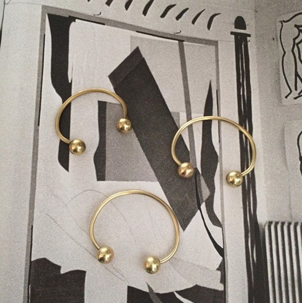 2. Solid brass bracelet - I'm not a jewelry person. I don't even wear a watch, but I pretty much wear this bracelet every day. A simple piece that I picked up on a trip to Los Angeles and designed by Tania of Fixed Air, it's became a wardrobe staple.View
