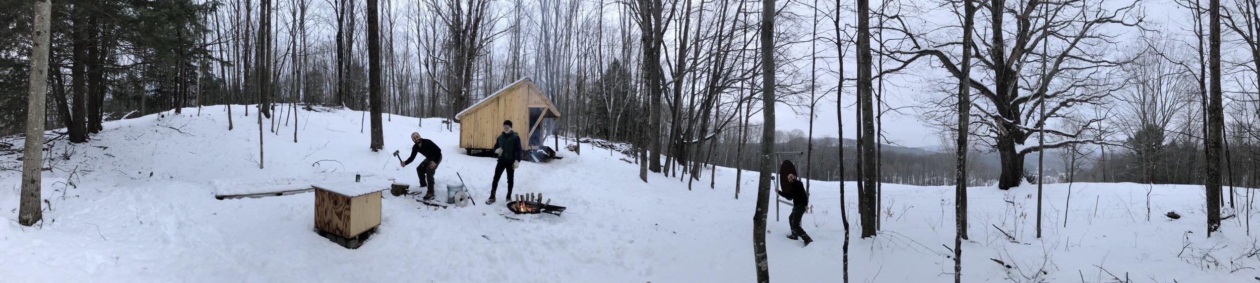 Winter camping!
