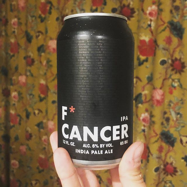 10 months in remission. @silvermoonbrewing F* Cancer beer donates proceeds to @americancancersociety and puts survivors names all around the label.