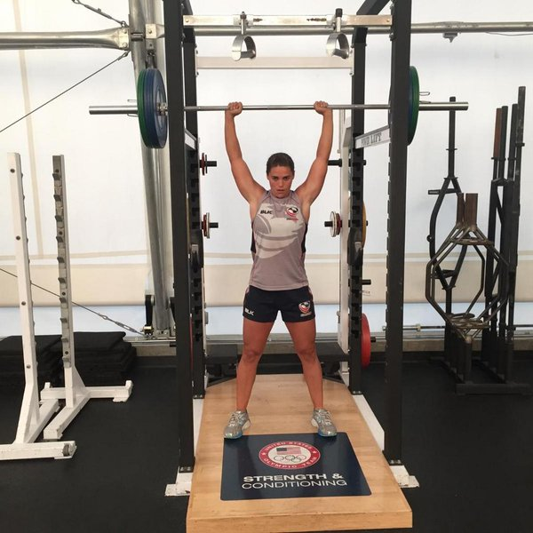 Azevedo in training at the OTC in Chula Vista with USA Rugby.
