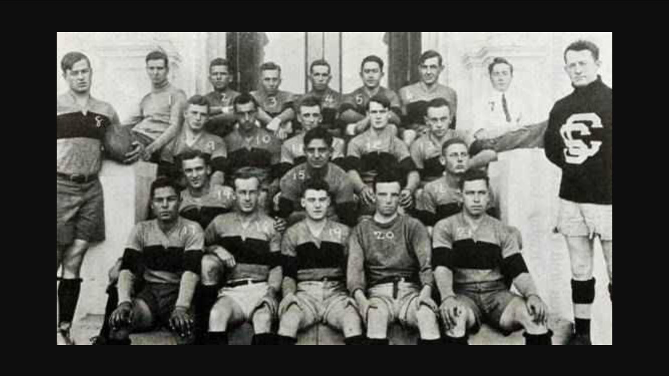 The early Santa Clara University sides.