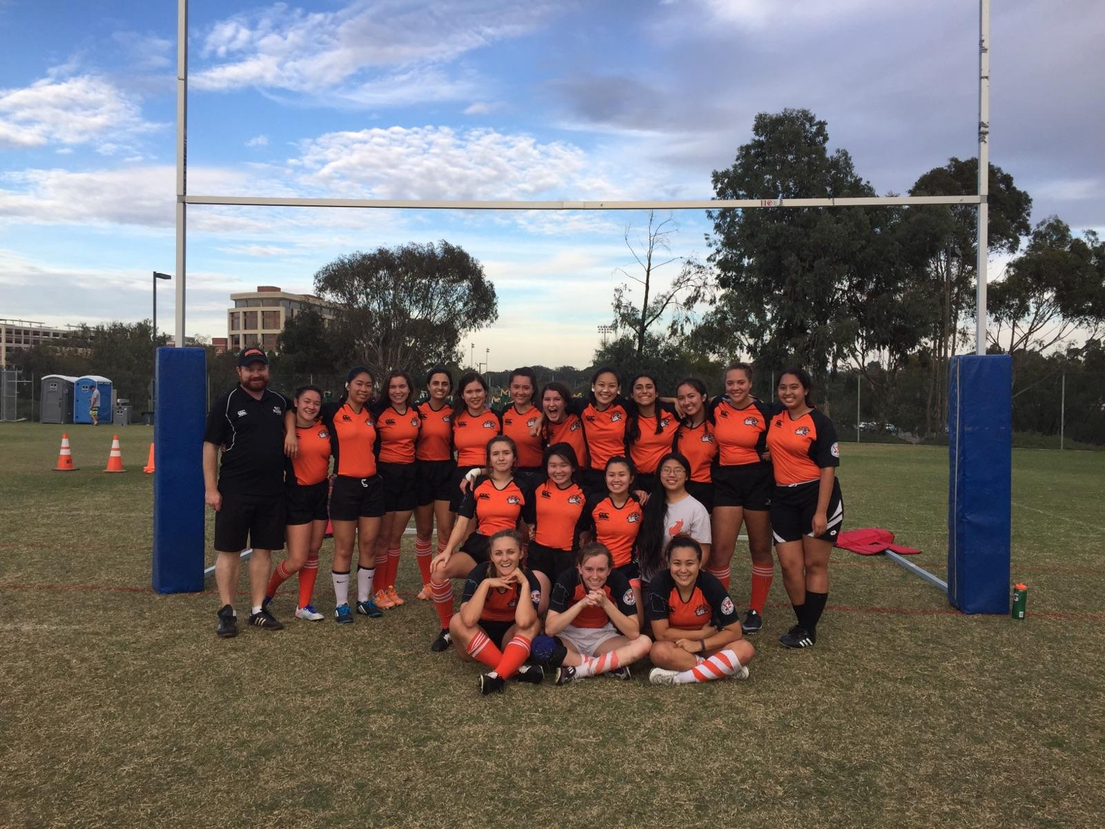 The ladies of Occidental College Women's Rugby Club