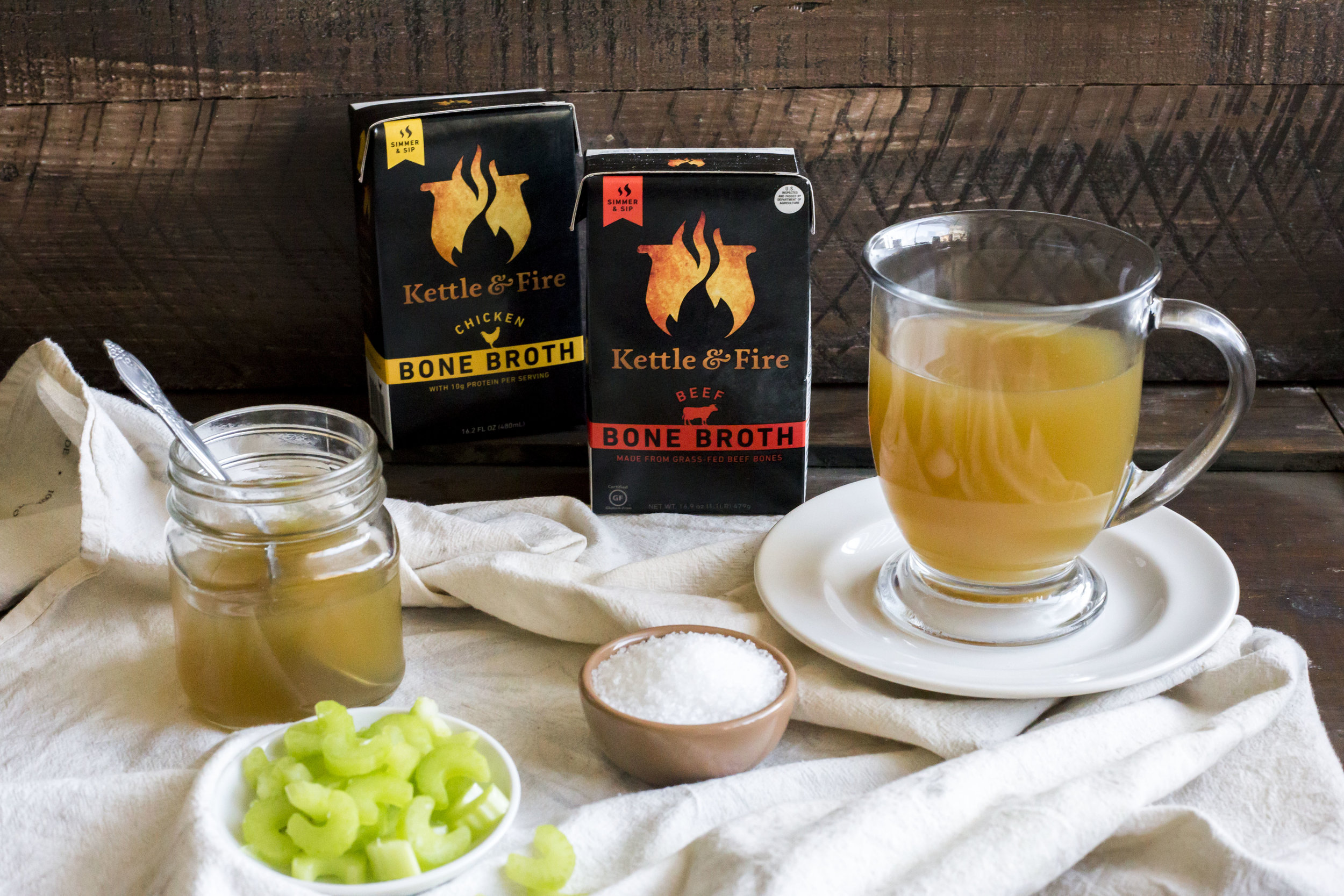 Improve Gut, Joint And Skin Health with Kettle & Fire Organic Bone Broth