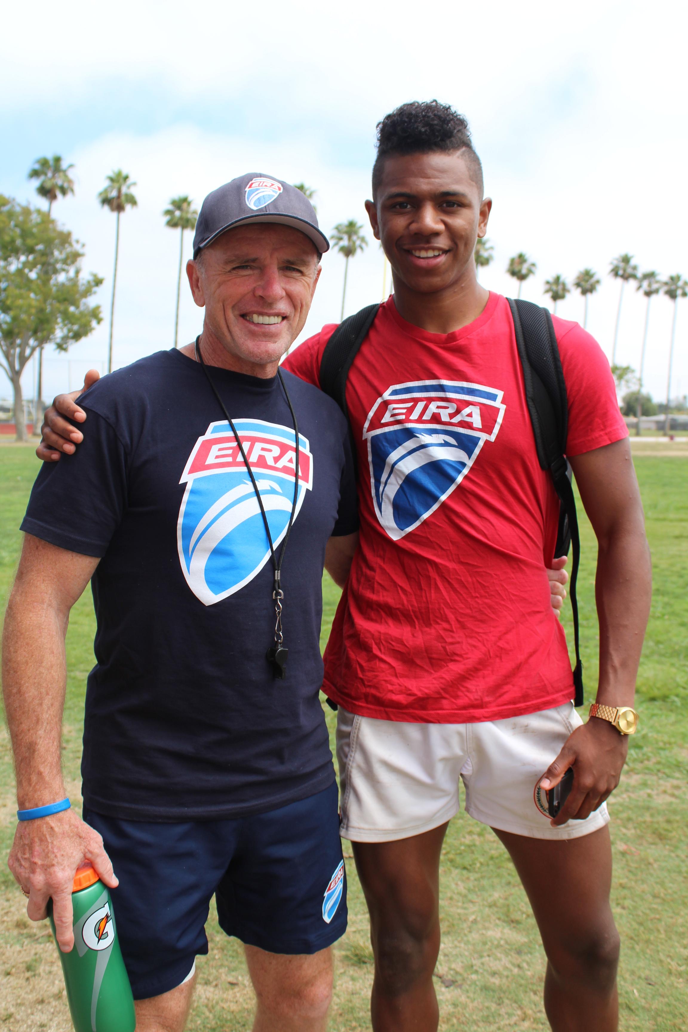 Coach Salty Thompson and Ryan James, Jr. (June, 2017).