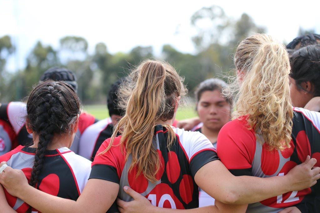 Chico State Women's Rugby. Photo by J. Kort