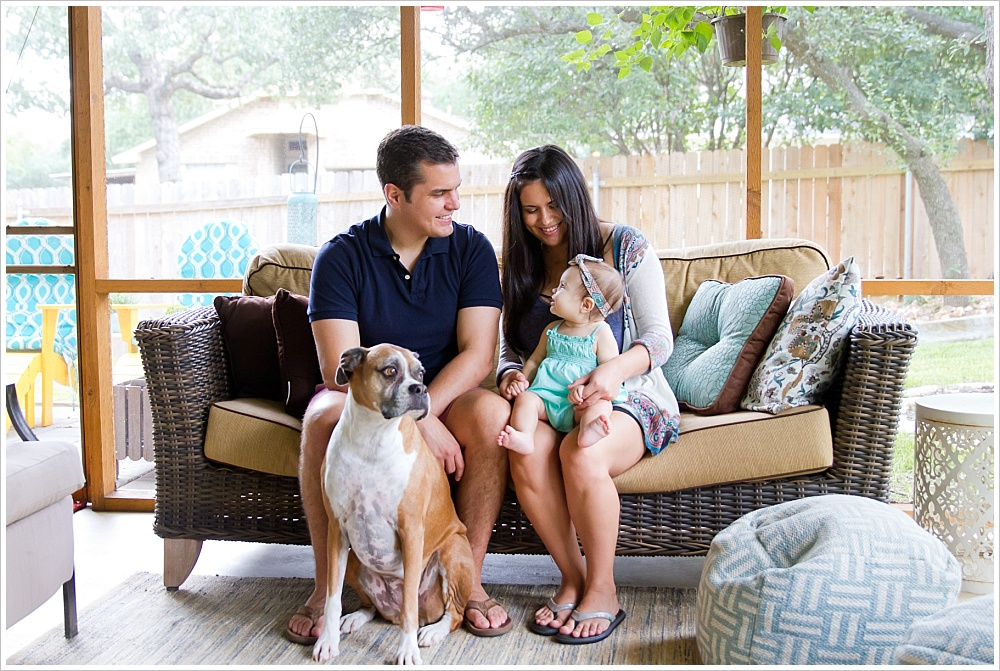 family enjoying their back porch | lifestyle family photography in Cedar Park, Texas | Jason & Melaina Photography