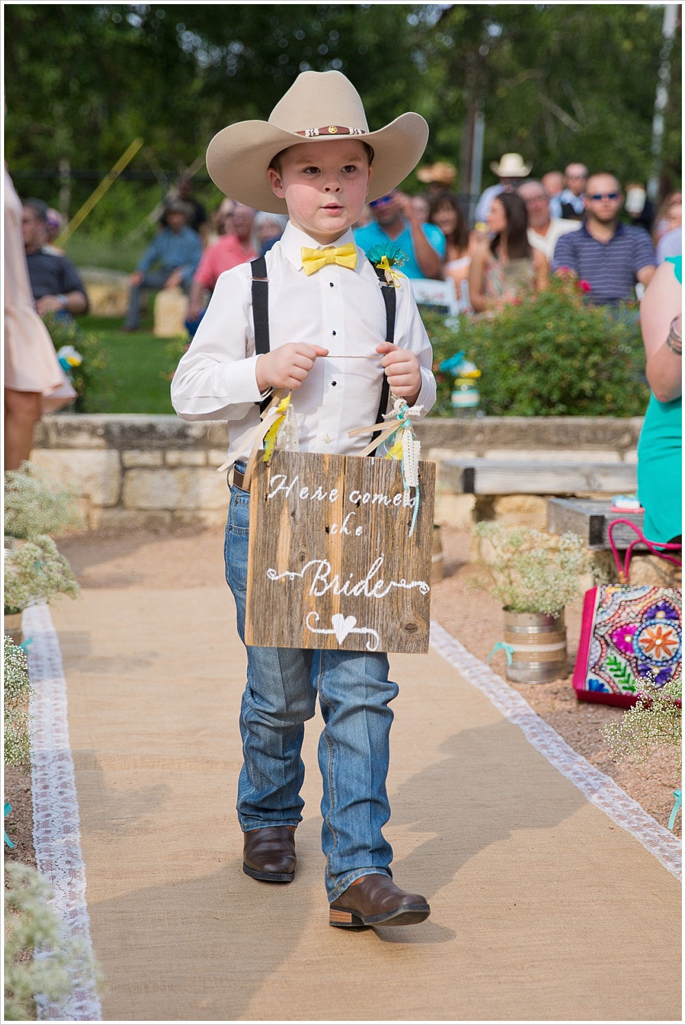 ring bearer | Carleen Bright Arboretum wedding venue in Woodway, TX | Jason & Melaina Photography