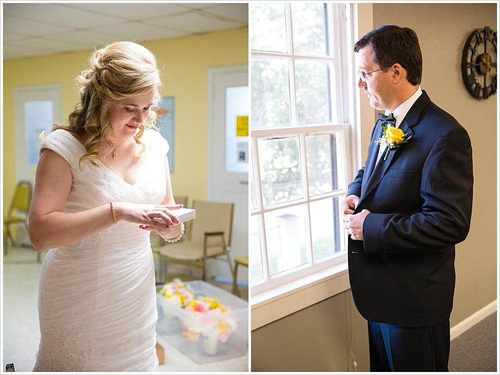 bride and groom getting ready for wedding | Calvary Baptist Church, Waco, TX | Jason & Melaina Photography