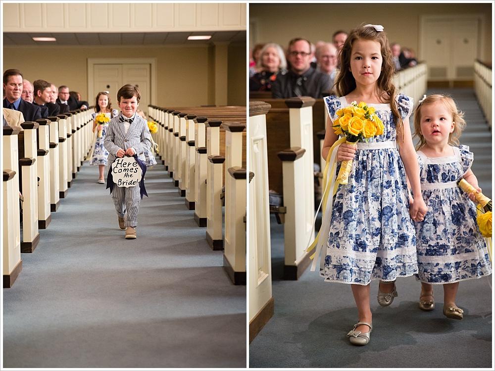 ring bearer and flower girls | Calvary Baptist Church, Waco, TX | Jason & Melaina Photography