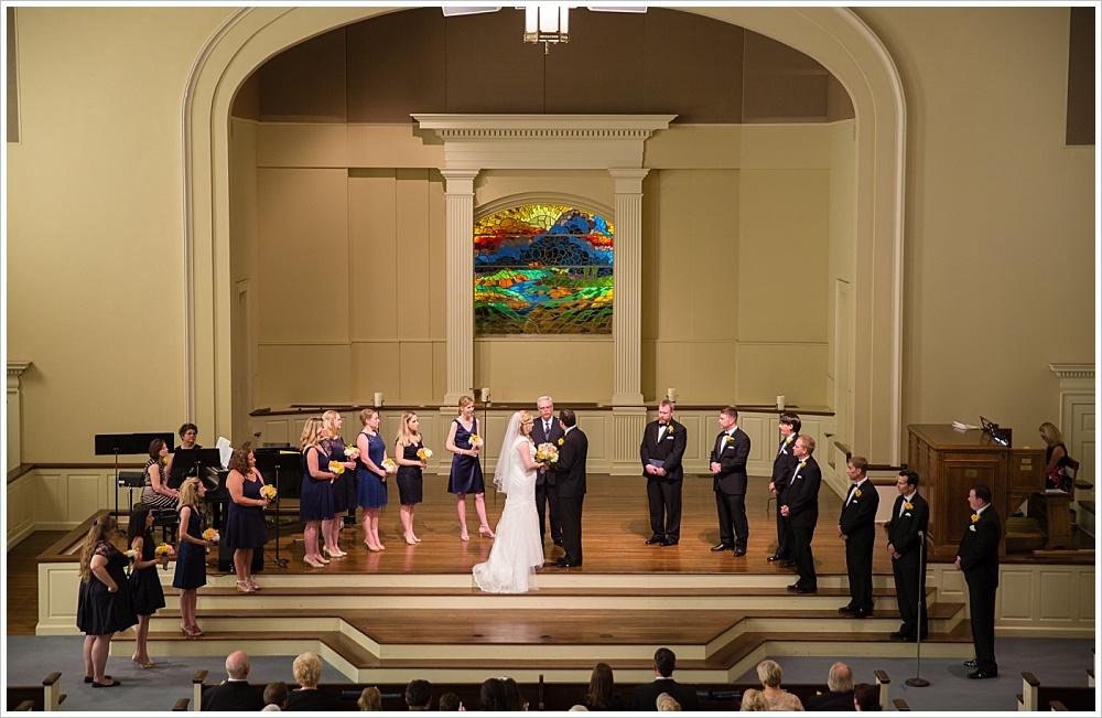 wedding ceremony | Calvary Baptist Church, Waco, TX | Jason & Melaina Photography