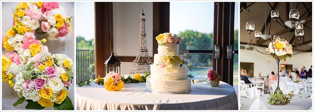 flower and cake details | Carleen Bright Arboretum, Woodway, Texas | Jason & Melaina Photography