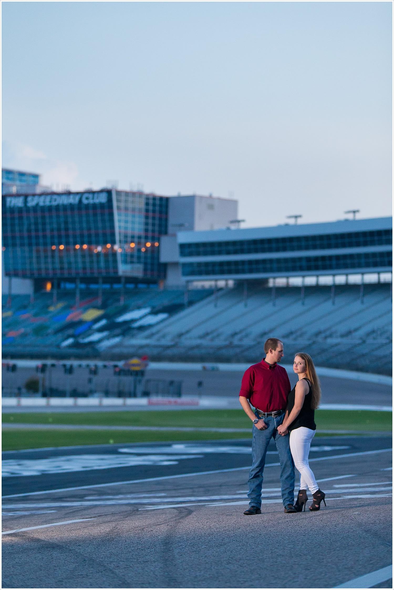 Engagement portraits | Texas Motor Speedway| Jason and Melaina Photography