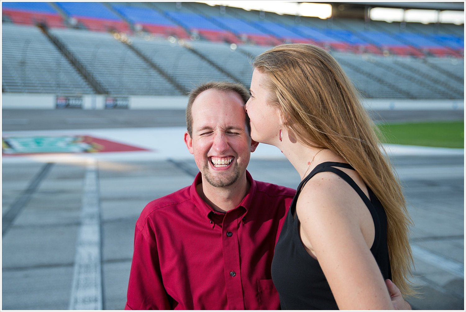 Engagement portraits at Texas Motor Speedway | Texas Wedding Photography by Jason and Melaina Photography