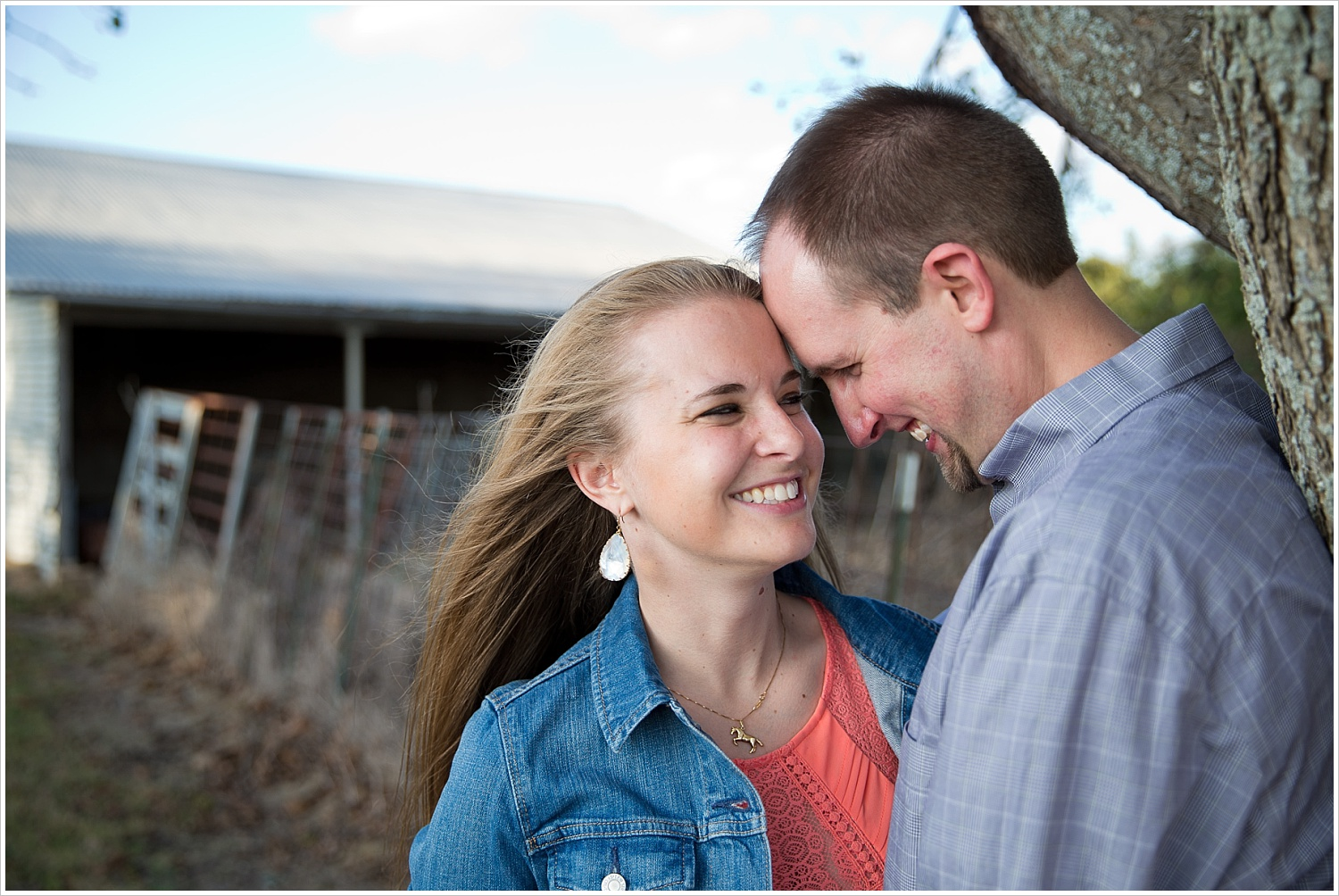 a couple stands in front of a tree | West, Texas | Jason & Melaina Photography