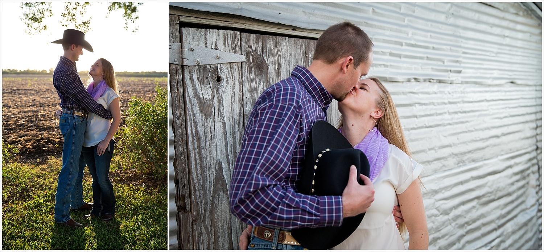 a couple embraces in the sunset | West, Texas Engagement Portraits | Jason & Melaina Photography