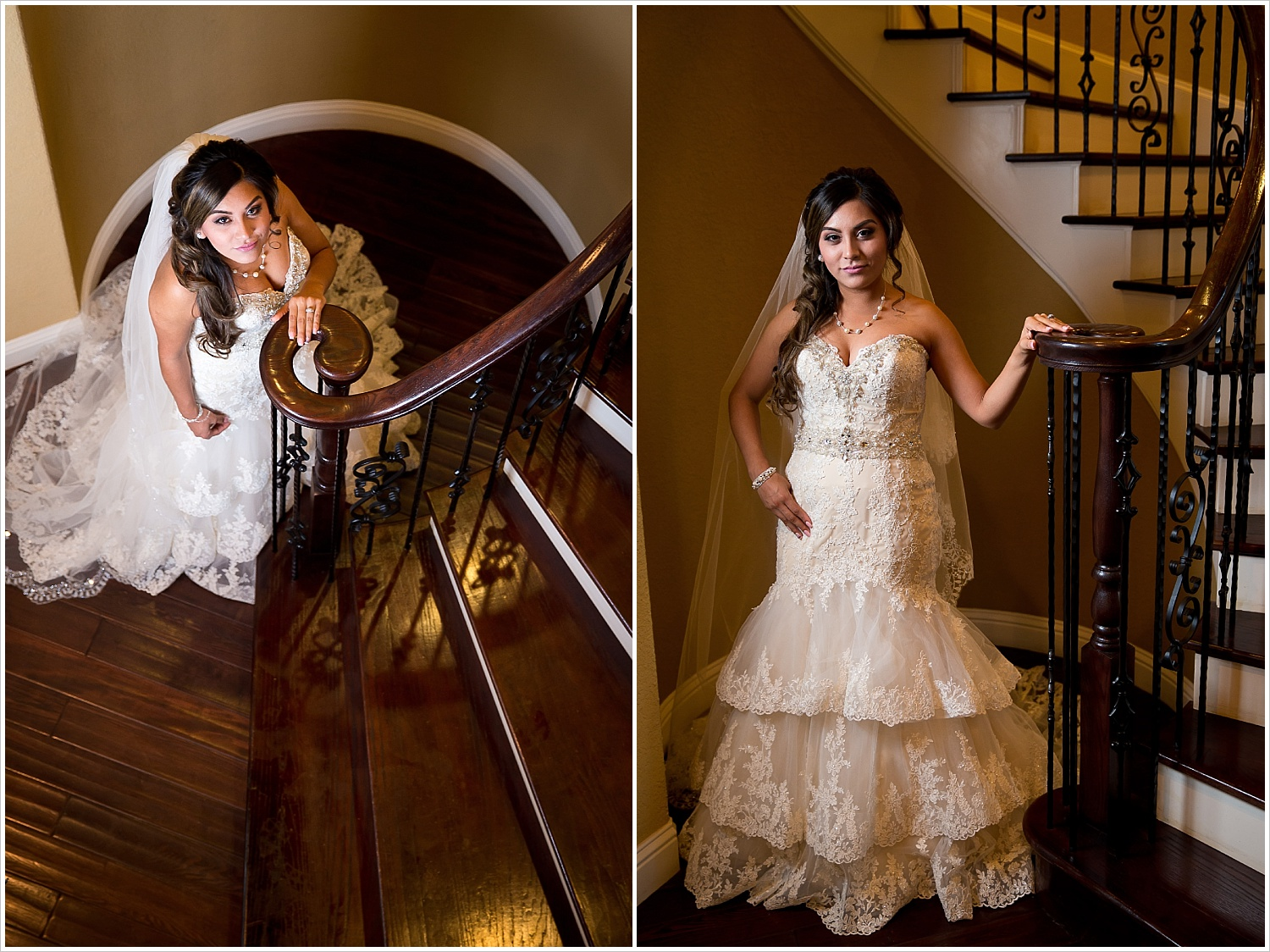 bride in lace bridal gown | Vera Estates in China Springs, Texas | Jason & Melaina Photography
