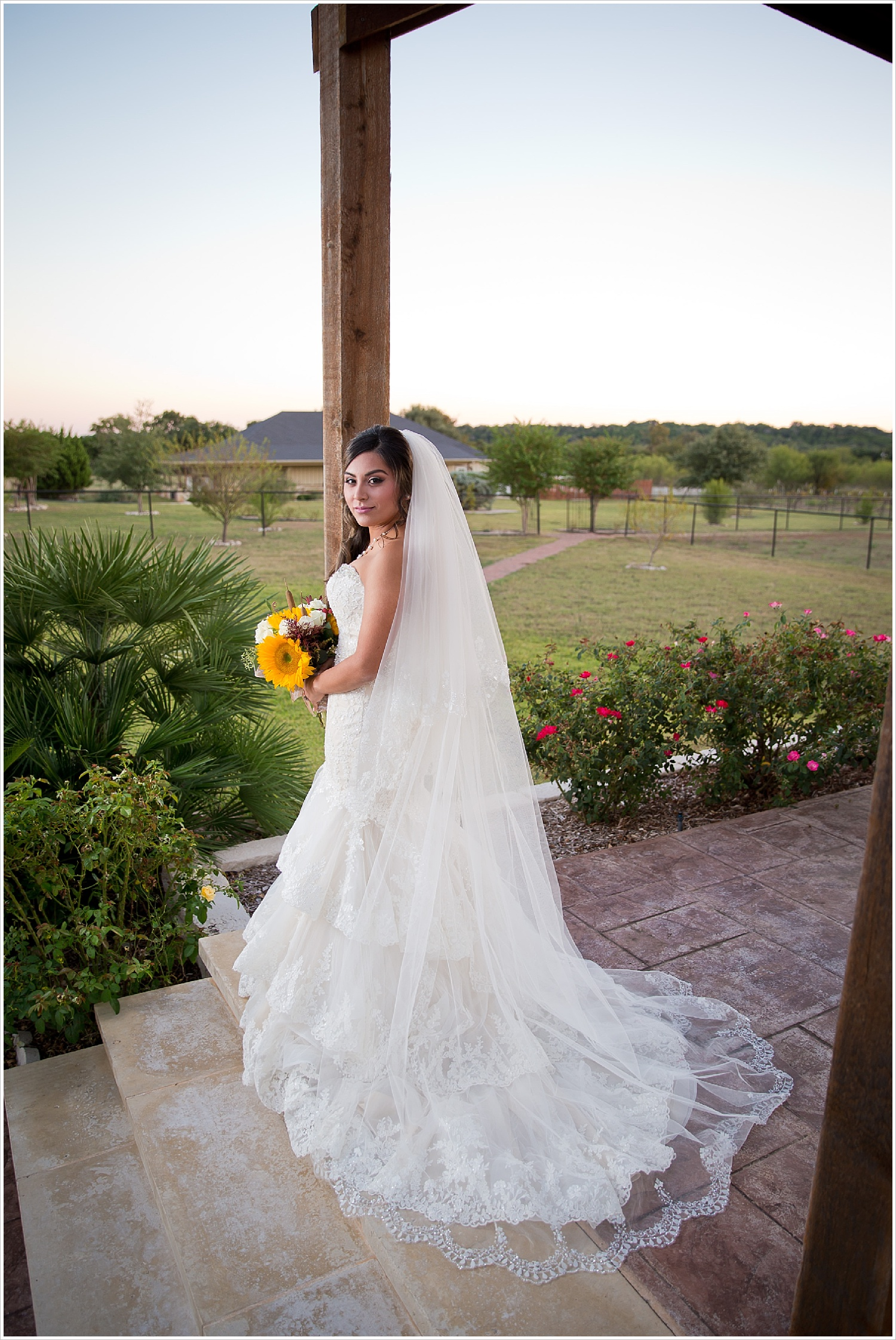 lace cathedral veil | Vera Estates in China Springs, Texas | Jason & Melaina Photography