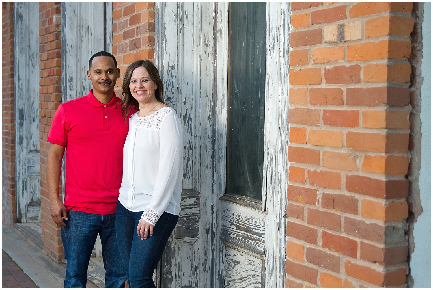 Engagement portraits in downtown Belton, Texas