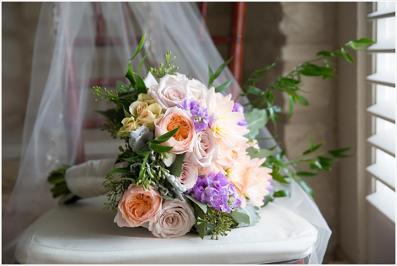 Brides bouquet by HEB Florist for spring wedding at La Rio Mansion