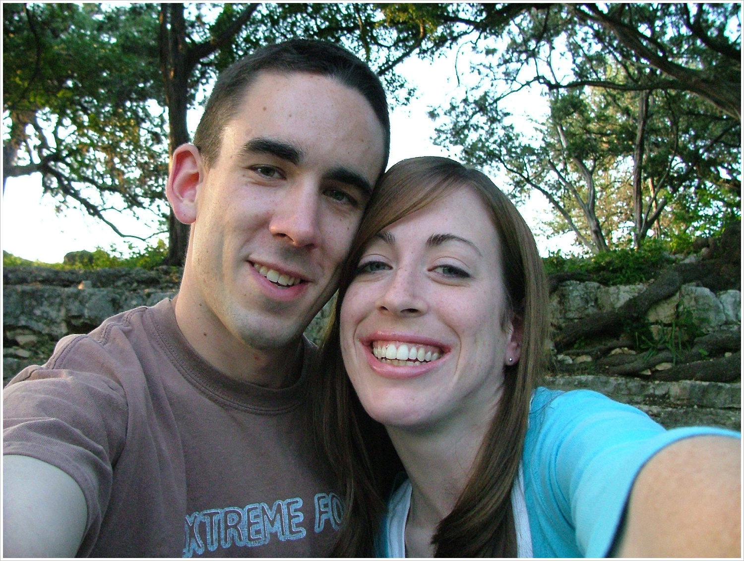Selfie with an actual camera on one of our many dates to Zilker Park in Austin.