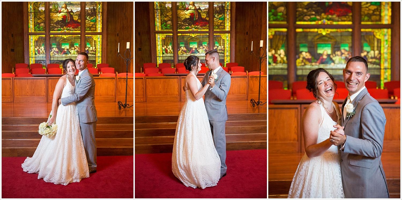 Bride and groom dance in the sanctuary of Central Presbyterian Church in Waco/Woodway, TX - Jason & Melaina Photography, www.jasonandmelaina.com