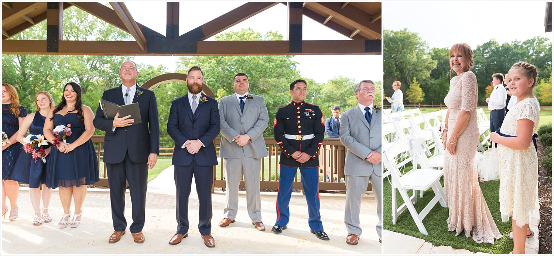 Ceremony,summer blush and navy wedding at Stone Hall at The Springs in McKinney, Texas, Jason & Melaina Photography, www.jasonandmelaina.com