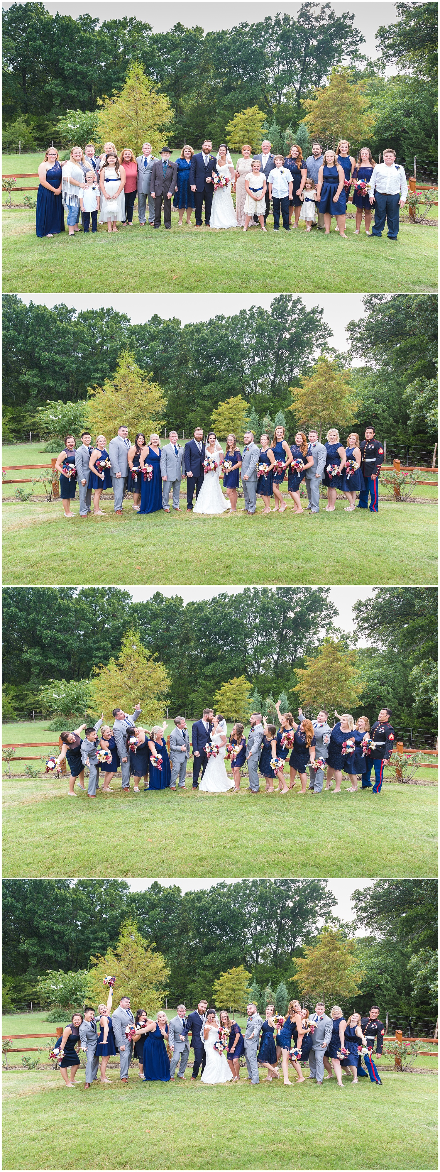 Bridal party portrait,summer blush and navy wedding at Stone Hall at The Springs in McKinney, Texas, Jason & Melaina Photography, www.jasonandmelaina.com