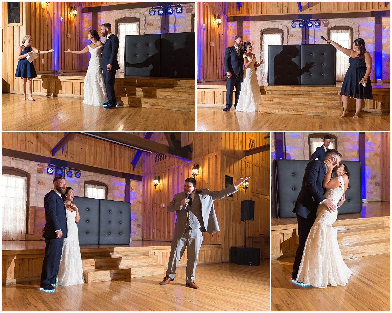 Toasts,summer blush and navy wedding at Stone Hall at The Springs in McKinney, Texas, Jason & Melaina Photography, www.jasonandmelaina.com