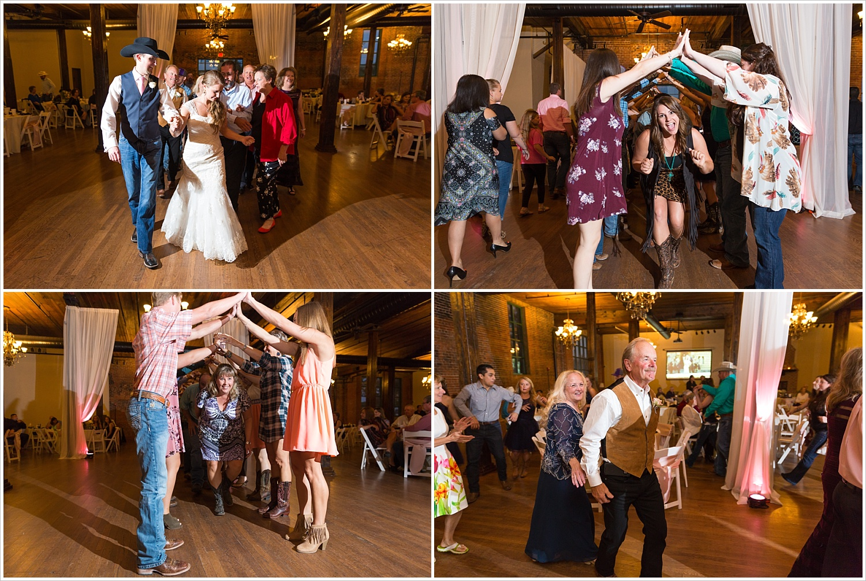 The Grand March dance, Navy and blush Texas Reception at The Phoenix Ballroom, Jason & Melaina Photography - www.jasonandmelaina.com