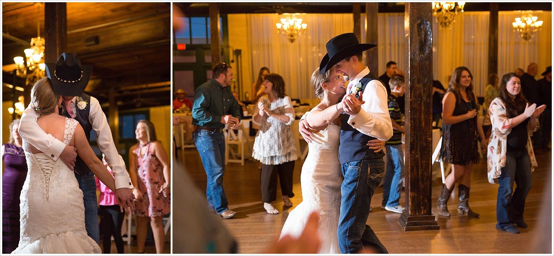 Bride and groom have first dance,Navy and blush Texas Reception at The Phoenix Ballroom, Jason & Melaina Photography - www.jasonandmelaina.com