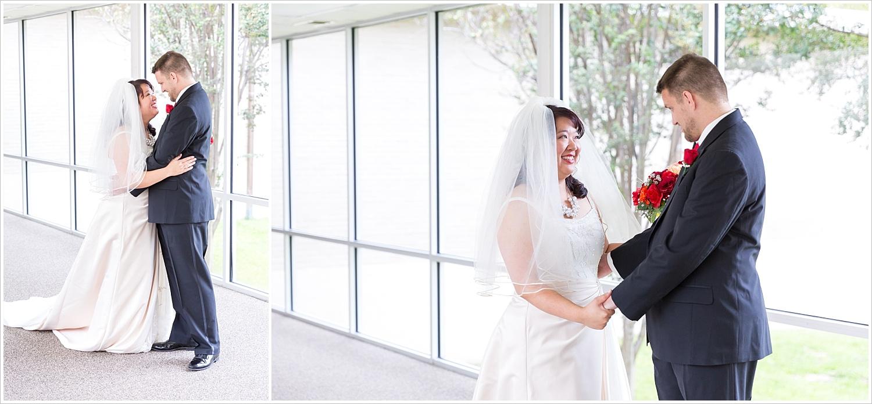 First look between bride and groom - Jason & Melaina Photography, www.jasonandmelaina.com