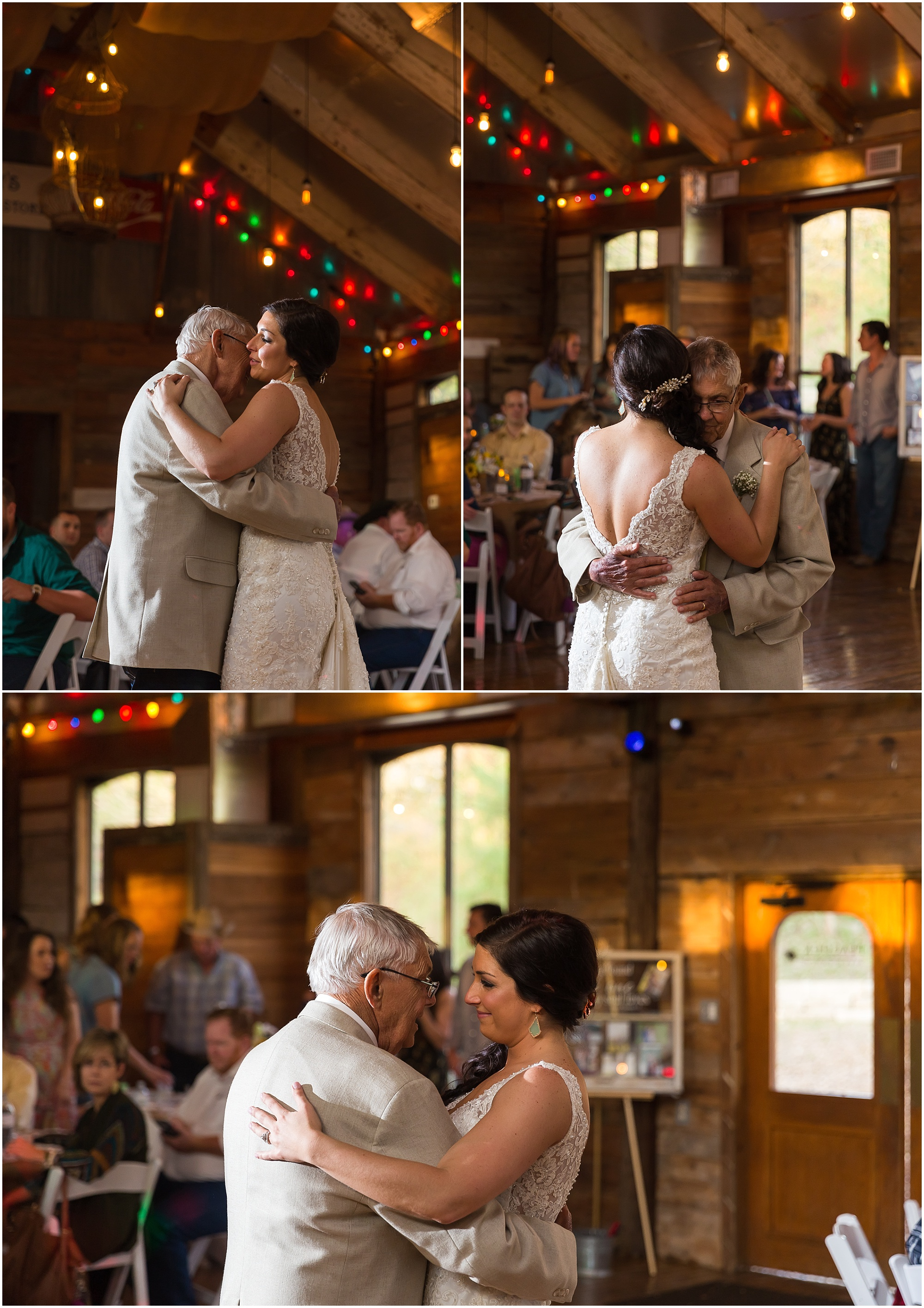 Father dances with his daughter on her wedding day - Peacock River Ranch - Gatesville TX - Jason & Melaina Photography