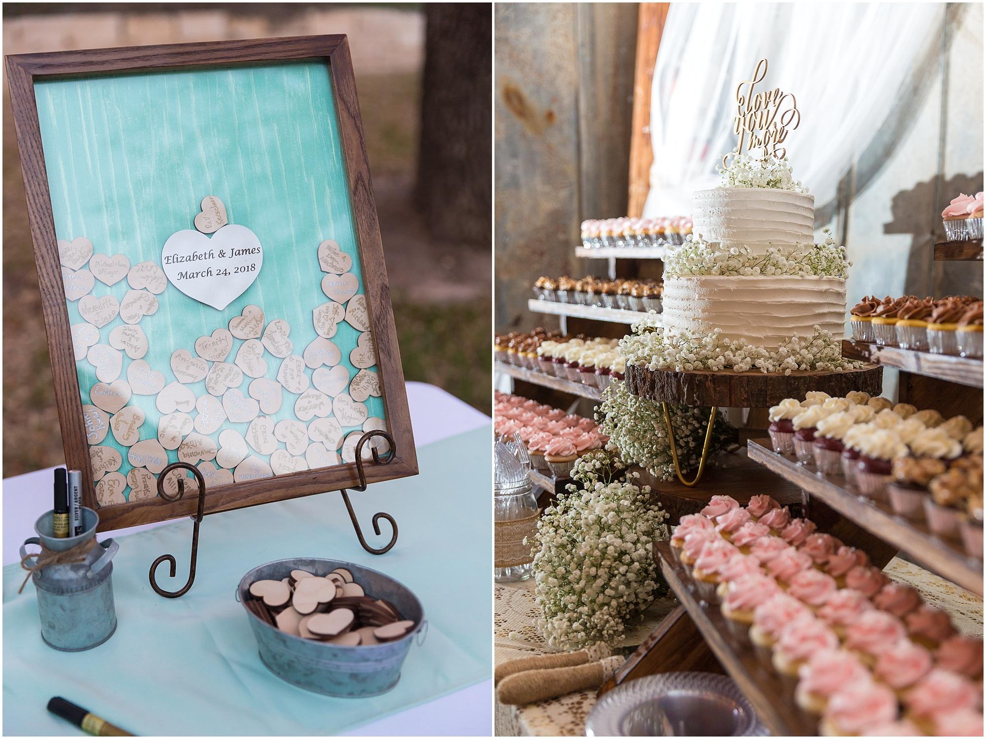 Unique guest book idea at wedding at Peacock River Ranch - Jason & Melaina Photography