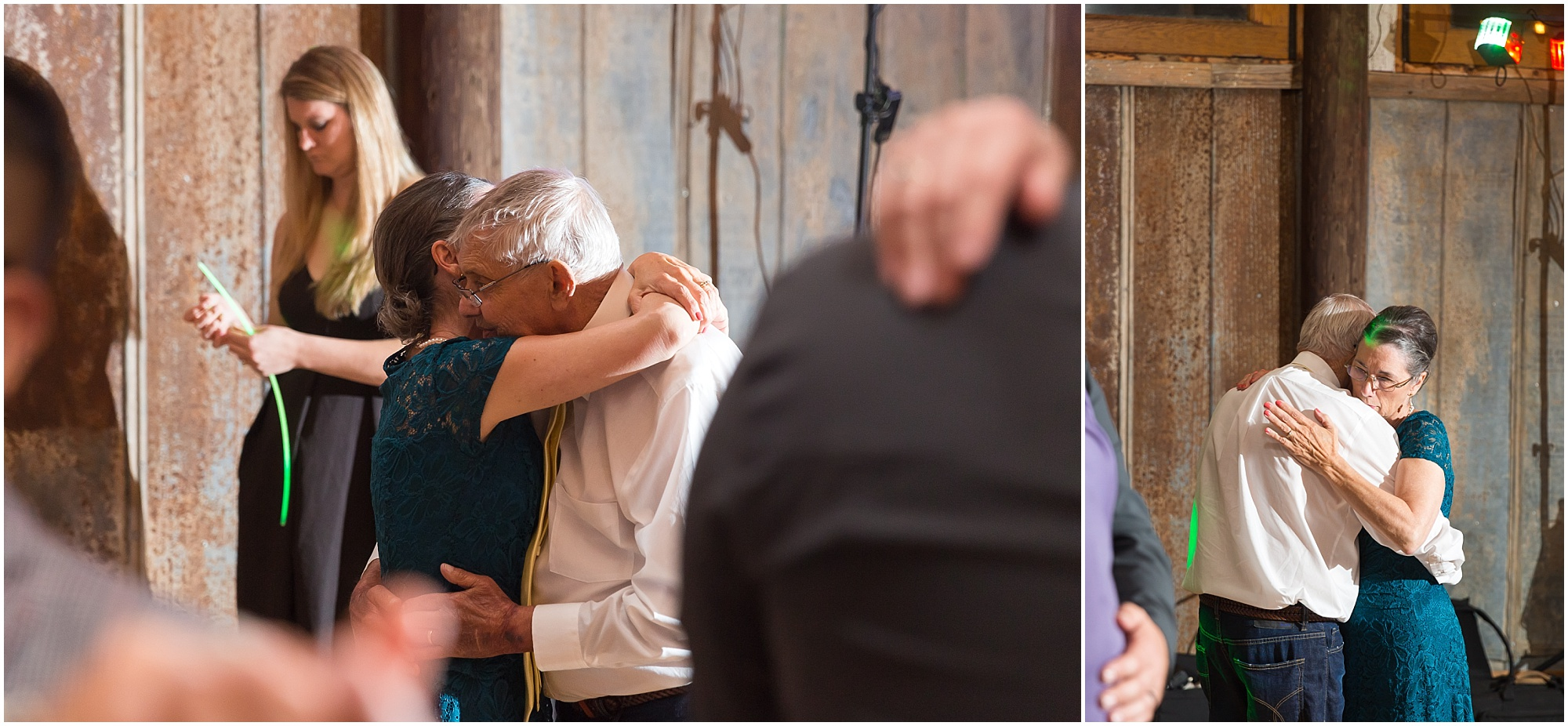 Bride's parents dance at Reception at Peacock River Ranch in Gatesville, Texas - Jason & Melaina Photography