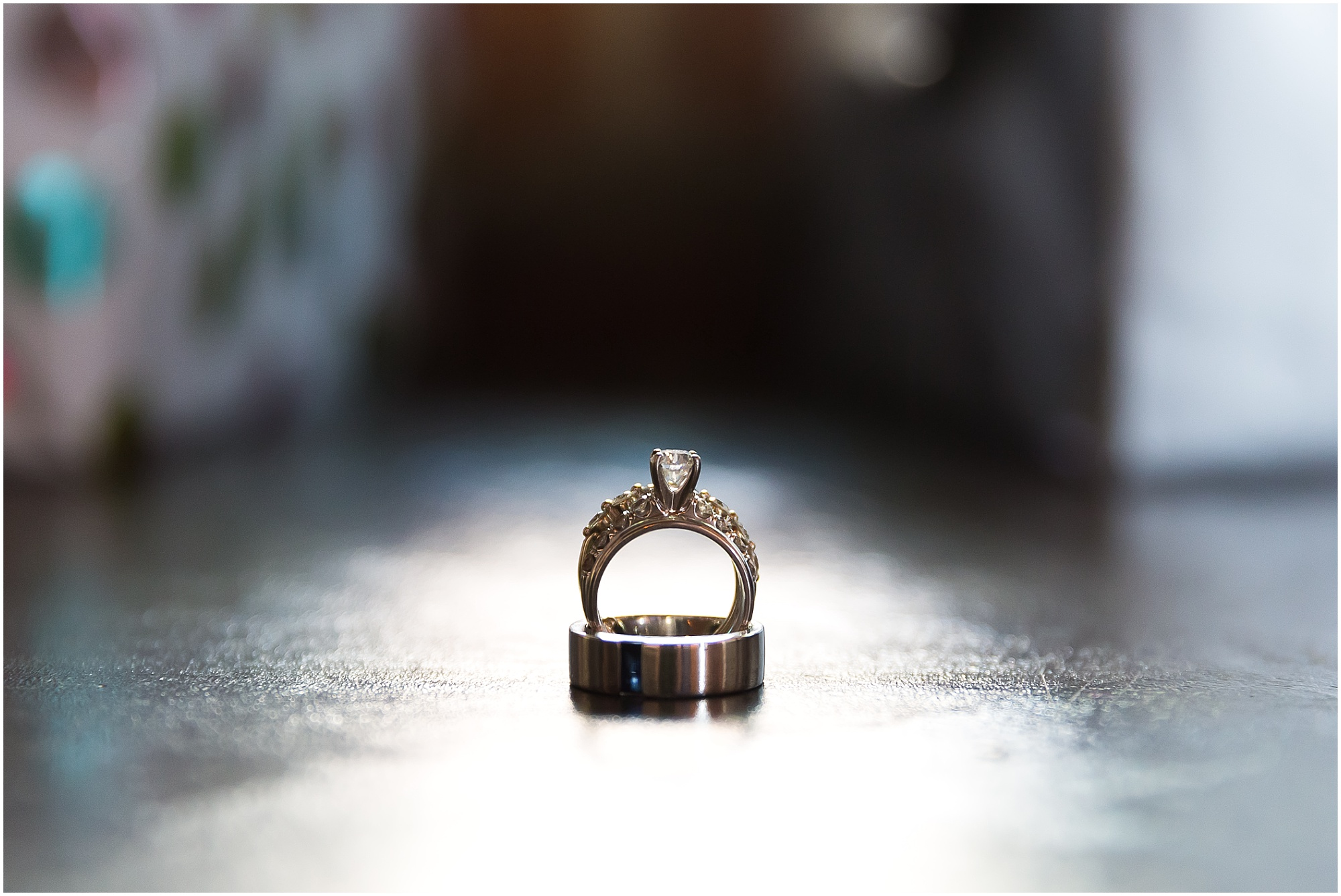 Wedding rings from downtown warehouse wedding in Waco, Texas - www.jasonandmelaina.com